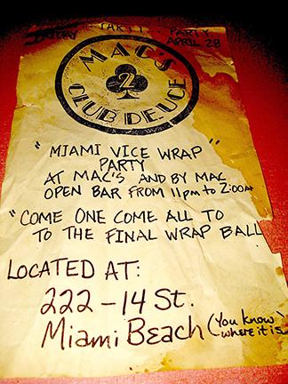 The Deuce Miami Vice Party!